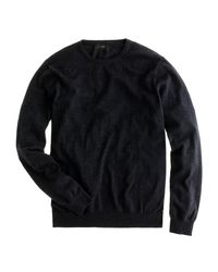 J.Crew   Gray Slim Cotton-cashmere Crewneck Sweater for Men   Lyst
