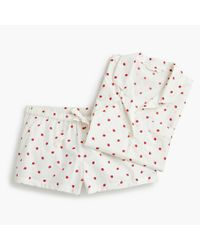 J.Crew - White Pajama Set In Strawberries - Lyst