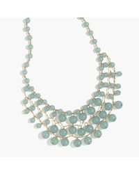J.Crew | Green Bauble Cascade Necklace | Lyst