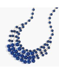 J.Crew | Blue Bauble Cascade Necklace | Lyst
