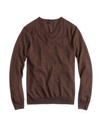 J.Crew - Gray Slim Merino Wool V-neck Sweater for Men - Lyst