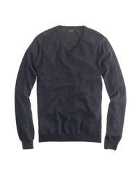 J.Crew | Black Slim Merino Wool V-neck Sweater for Men | Lyst