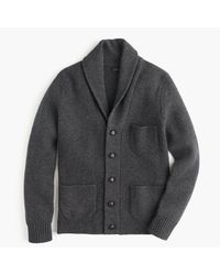 J.Crew | Black Lambswool Three-pocket Cardigan Sweater for Men | Lyst