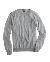 J.Crew - Gray Slim Merino Wool Crewneck Sweater for Men - Lyst
