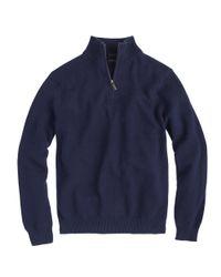 J.Crew   Blue Slim Cotton-cashmere Half-zip Sweater for Men   Lyst