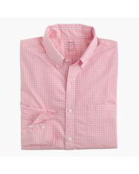 J.Crew | Pink Slim Lightweight Secret Wash Shirt In Gingham for Men | Lyst