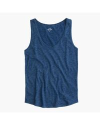 J.Crew | Blue Indigo Vintage Cotton Tank Top | Lyst