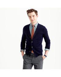 J.Crew | Blue Slim Merino Wool Cardigan Sweater for Men | Lyst