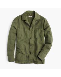 J.Crew | Green Wallace & Barnes Lightweight Garment-dyed Cotton-linen Shirt-jacket for Men | Lyst
