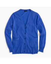 J.Crew | Blue Summerweight Cardigan Sweater for Men | Lyst