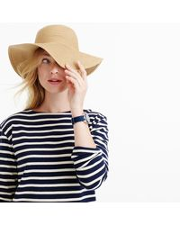 J.Crew - Natural Short-brimmed Straw Hat - Lyst