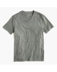 J.Crew | Gray Garment-dyed V-neck T-shirt for Men | Lyst