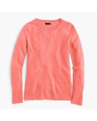 J.Crew | Pink Italian Cashmere Long-sleeve T-shirt | Lyst