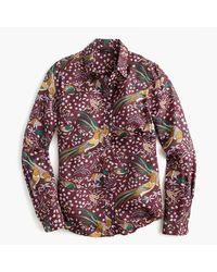 J.Crew - Multicolor Drake's Printed Silk-Twill Shirt - Lyst
