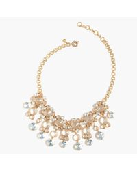 J.Crew - Blue Icy Crystal Drop Necklace - Lyst