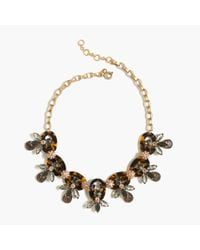 J.Crew | Black Tortoise And Firefly Necklace | Lyst