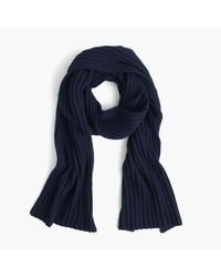 J.Crew   Blue Ribbed Cashmere Scarf   Lyst