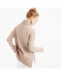 J.Crew - Multicolor Marled Italian Wool Blend Turtleneck Sweater - Lyst