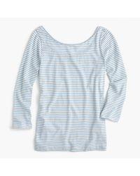 J.Crew | Blue Scoopback Ballet T-shirt In Stripe | Lyst