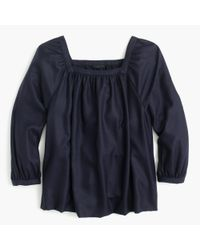 J.Crew   Blue Collection Penny Top In Italian Cashmere   Lyst