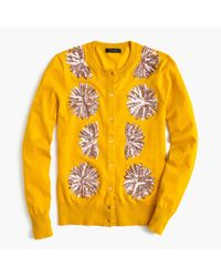 J.Crew   Metallic Embellished Cotton Jackie Cardigan Sweater   Lyst