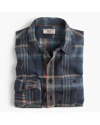 J.Crew | Blue Wallace & Barnes Madras Naval Workshirt for Men | Lyst