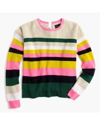 J.Crew | Yellow Carine Pop Stripe Italian Cashmere Sweater for Men | Lyst