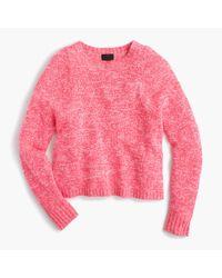 J.Crew - Pink Italian Cashmere Marled Crewneck Sweater - Lyst