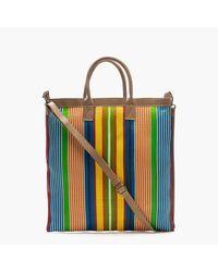 J.Crew | Multicolor Christian Peau Striped Shoulder Net Bag | Lyst