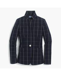 J.Crew | Blue Regent Blazer In Windowpane Print | Lyst