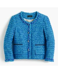 J.Crew   Blue Collection Lady Jacket In English Tweed   Lyst