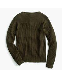 J.Crew | Green Wallace & Barnes Textured Cotton-linen Sweater for Men | Lyst