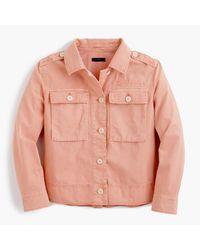 J.Crew   White Petite Garment-dyed Safari Shirt Jacket   Lyst