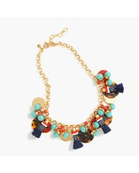 J.Crew | Multicolor Fun Tassel Necklace | Lyst
