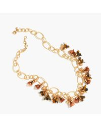 J.Crew | Metallic Magnolia Link Necklace | Lyst