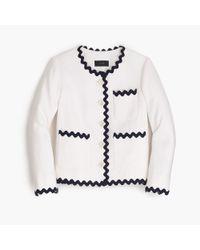 J.Crew | White Petite Lady Jacket With Rickrack Trim | Lyst