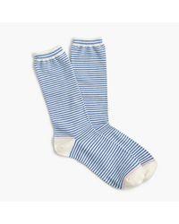 J.Crew | Blue Striped Trouser Socks | Lyst