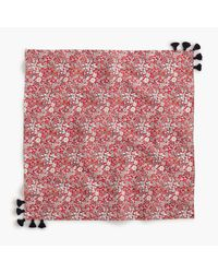 J.Crew - Bandana In Liberty Red Meadow Floral - Lyst
