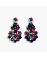 J.Crew | Multicolor Beaded Garden Earrings | Lyst