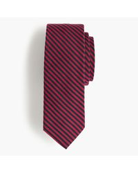 J.Crew | Purple Silk-wool Tie In Microstripe for Men | Lyst
