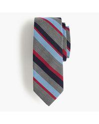 J.Crew | Multicolor Silk-wool Tie In Multistripe for Men | Lyst