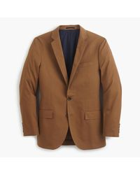 J.Crew | Brown Ludlow Suit Jacket With Double Vent In Italian Chino for Men | Lyst
