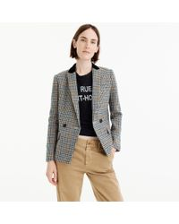 J.Crew - Multicolor Petite Dover Blazer In Houndstooth Wool - Lyst