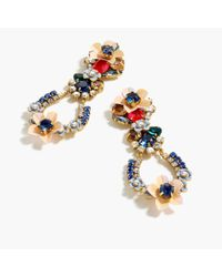 J.Crew - Multicolor Crystal And Flower Earrings - Lyst