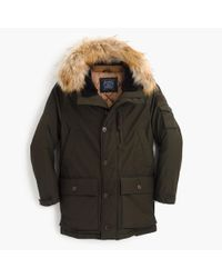 J.Crew | Green Nordic Down Parka for Men | Lyst