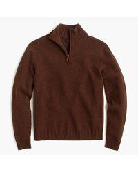 J.Crew | Brown Slim Lambswool Half-zip Sweater for Men | Lyst