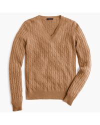 J.Crew | Multicolor Cambridge Cable V-neck Sweater for Men | Lyst