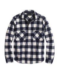J.Crew   Blue Buffalo Check Shirt-jacket   Lyst