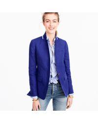 J.Crew - Blue Regent Blazer In Linen - Lyst