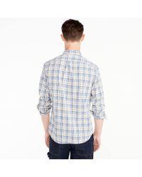 J.Crew - Stretch Secret Wash Shirt In Blue And Grey Plaid for Men - Lyst